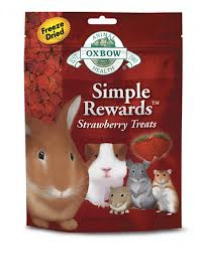 OXBOW SIMPLE REWARDS STRAWBERRY TREATS  15gr