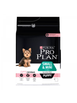 PROPLAN PUPPY SMALL&MINI SENSITIVE SKIN ΣΟΛΟΜΟΣ 3KG