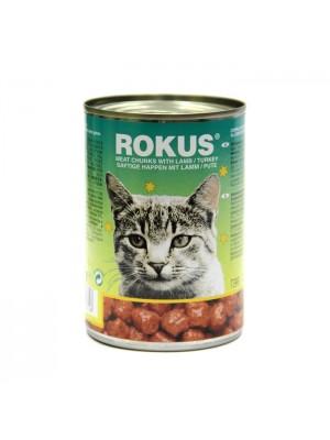 ROKUS CAT ΑΡΝΙ & ΓΑΛΟΠΟΥΛΑ 410gr