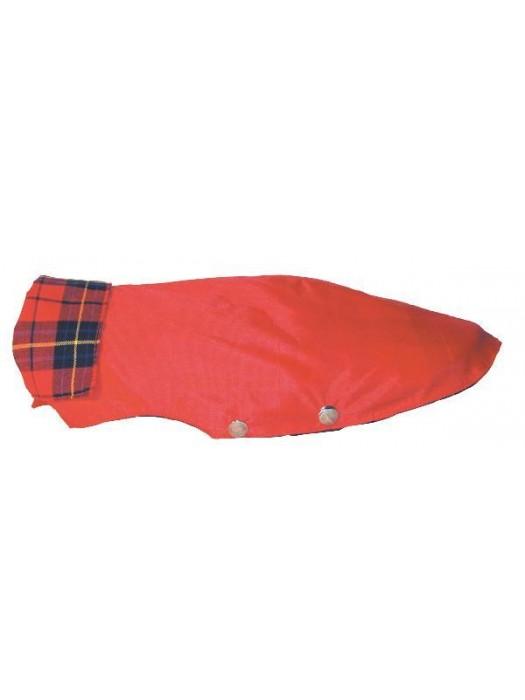 GABARDINE COAT RED