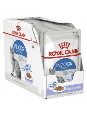 ROYAL CANIN INDOOR STERILISED IN JELLY 85GR/12ΤΜΧ