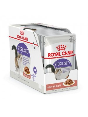 ROYAL CANIN STERILISED IN GRAVY 85gr/12τμχ