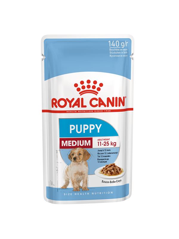 ROYAL CANIN MEDIUM PUPPY POUCH 140GR / 10 ΦΑΚΕΛΑΚΙΑ