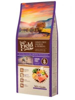 SAM'S FIELD GRAIN FREE SALMON 13KG (ΣΟΛΩΜΟΣ & ΡΕΓΓΑ)