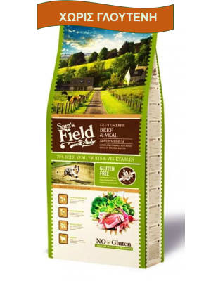 SAM'S FIELD ADULT MEDIUM BEEF & VEAL 2,5KG