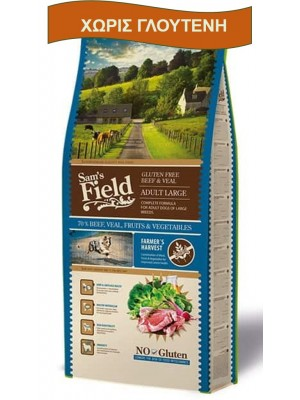 SAM'S FIELD ADULT LARGE BEEF & VEAL 13KG