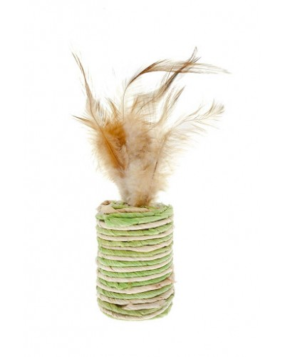 SISAL CYLINDER WITH FEATHERS