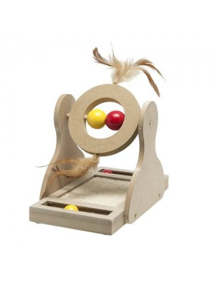 TUMBLER WOODEN SCRATCH TOY