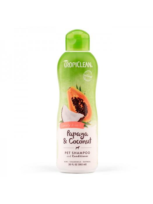 TROPICLEAN COCONUT & PAPAYA 2 in 1 592ml (shampoo & conditioner)